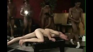 Hot black guys and white orgy