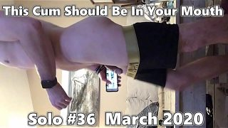 Str8ThugMaster New Solo #36 – March 2020 – This Cum should be in your Mouth Faggot you love my body and wish you could suck my cock preview